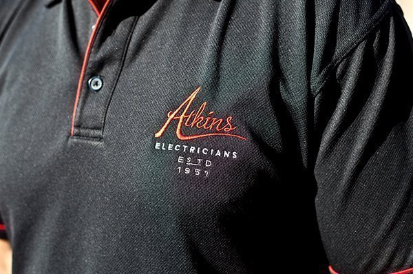 Atkins electricians shirt uniform.