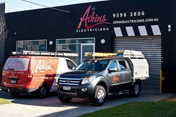 Atkins Electricians store front.